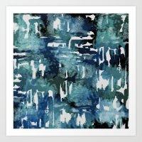 Mystic Cloud: Teal Art Print