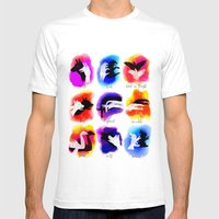 Watercolor Shadow Puppets Mens Fitted Tee White SMALL