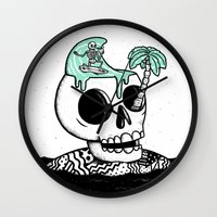 Surfer Thoughts Wall Clock