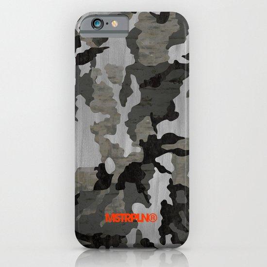 Modern Woodgrain Camouflage / Winter Birch Woodland Print iPhone & iPod Case