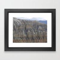 Carving the Earth Framed Art Print