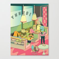 eating at johnny´s Canvas Print