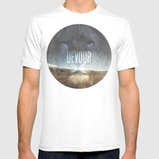 Devour Nature Like A Lion Mens Fitted Tee White SMALL