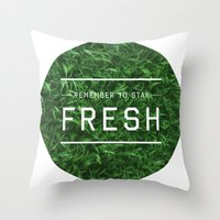Stay Fresh Throw Pillow