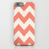 Vintage Coral Chevron iPhone 6 Slim Case