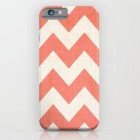 Vintage Coral Chevron iPhone 6 Slim Case
