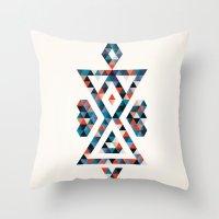 INDIAN - TIME Throw Pillow