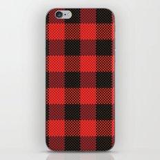 Pixel Plaid - Lumberjack iPhone & iPod Skin