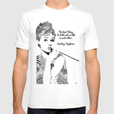 Audrey Hepburn - the best thing Mens Fitted Tee White SMALL