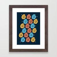 Colour Shells Pattern Framed Art Print