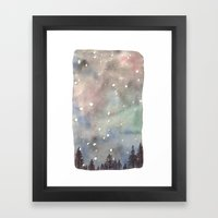 Nordic Lights Framed Art Print