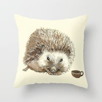 Hector the Hedgehog Throw Pillow