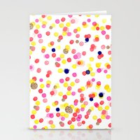 Watercolor Confetti! Stationery Cards