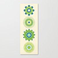 Sunburst: Green Canvas Print