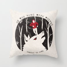 Sterek: He Who Runs With Wolves Throw Pillow