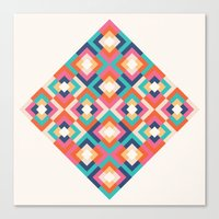 Colorful Geometric Canvas Print