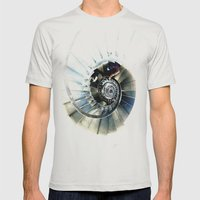 Winding Mens Fitted Tee Silver SMALL