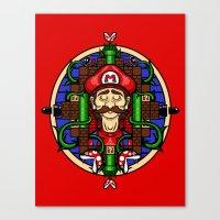 Mario's Melancholy Canvas Print