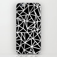 Abstract Outline Thick White on Black iPhone & iPod Skin