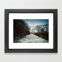 Winter Path Framed Art Print