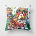 magic spring cat Throw Pillow