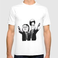 Pulp Fiction ( Patrick and Spongebob)  Mens Fitted Tee White SMALL