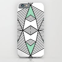 iPhone & iPod Case featuring Triangle Tribal Mint by Project M