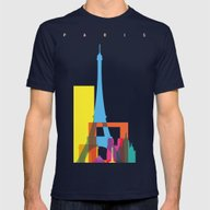 Shapes Of Paris. Accurat… Mens Fitted Tee Navy SMALL