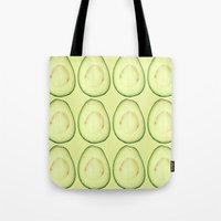 Tote Bag featuring avocado by Panic Junkie