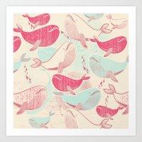 Whale ReUnion Art Print