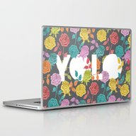 Laptop & iPad Skin featuring //  YOU ONLY LIVE ONCE  by Bianca Green