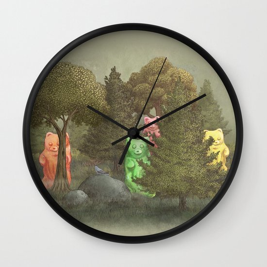 Wild Gummy Bears Wall Clock