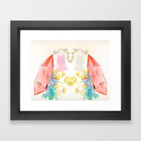 electric fungus Framed Art Print