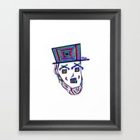 Colored Lincoln Framed Art Print