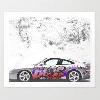 Porsche 911 Turbo Art Print