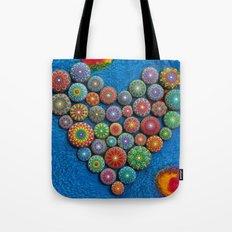 Mandala Stone Love Heart Tote Bag