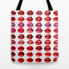 Lips Quote Tote Bag