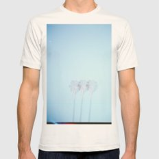 Triple Exposed Palm Trees Mens Fitted Tee Natural SMALL