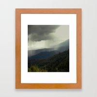 Rain Clouds Framed Art Print