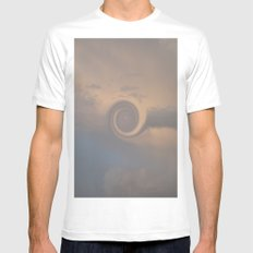Cloud Swirl SMALL White Mens Fitted Tee