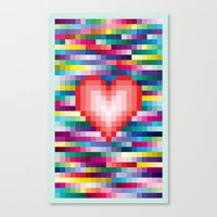 Mega ☐ Love Canvas Print