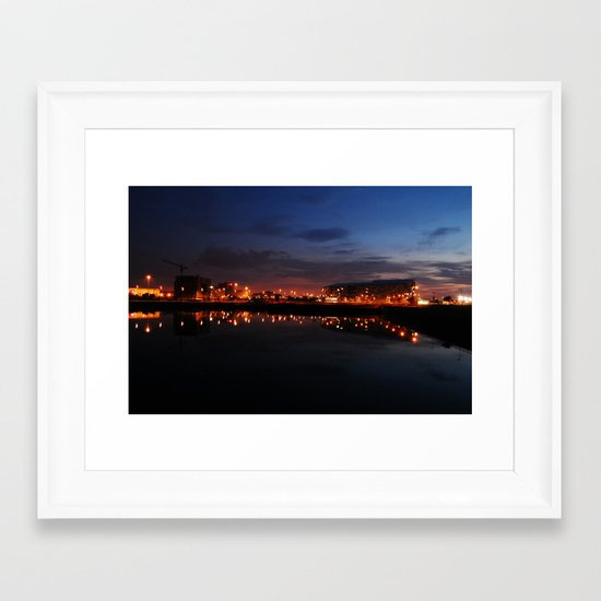 Reflected Lights Framed Art Print