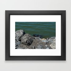 Salt Lake Scenery Framed Art Print