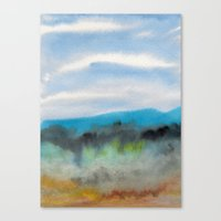 Watercolor abstract landscape 08 Canvas Print