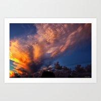 Winged Sunset Art Print