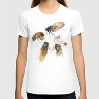 eye T-shirts featuring summer cicadas by Teagan White