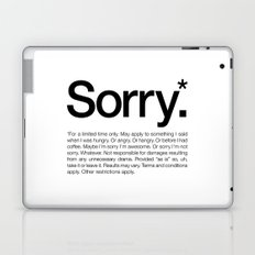 Sorry.* For a limited time only. (White) Laptop & iPad Skin