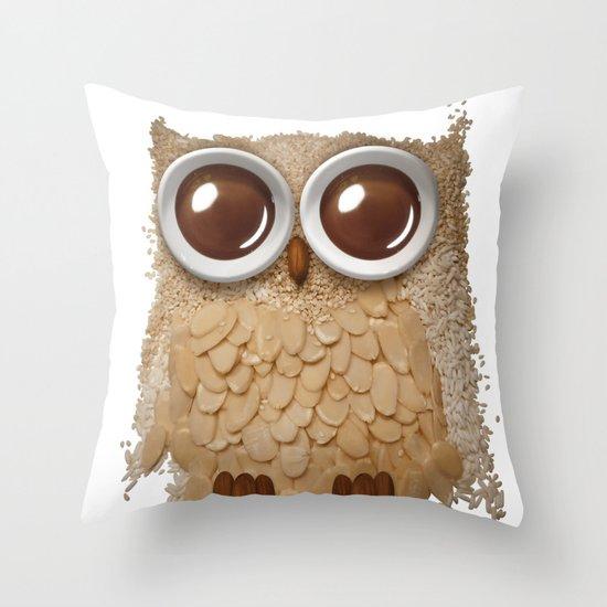 Owl Collage #6 Throw Pillow