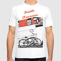 Beach City Cruiser Mens Fitted Tee White SMALL