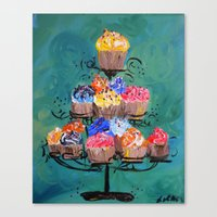 Sweet Cakes Canvas Print